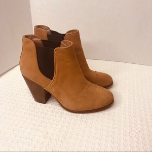 Vince Camuto Suede Leather Elastic Ankle Booties